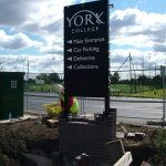 Signage-piers-to-York-College-entrance